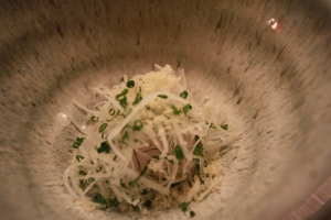 Spanish Mackarel with Daikon Salad