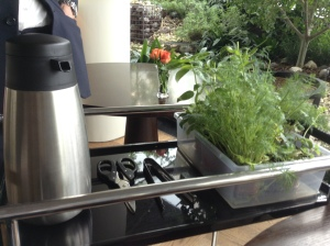 Herb Tea Cart - You can choose the fresh herbs for your tea