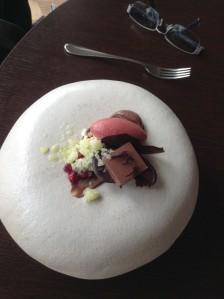 Dark plum, Chocolate, pomegranate - My friends dessert