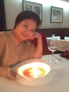 Complimentary Birthday Creme Brulee.. Happy Birthday mommy!