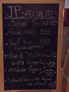 Specialties of the Day!