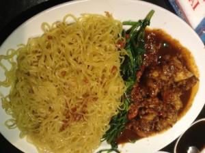 Egg noodles with Shrimp