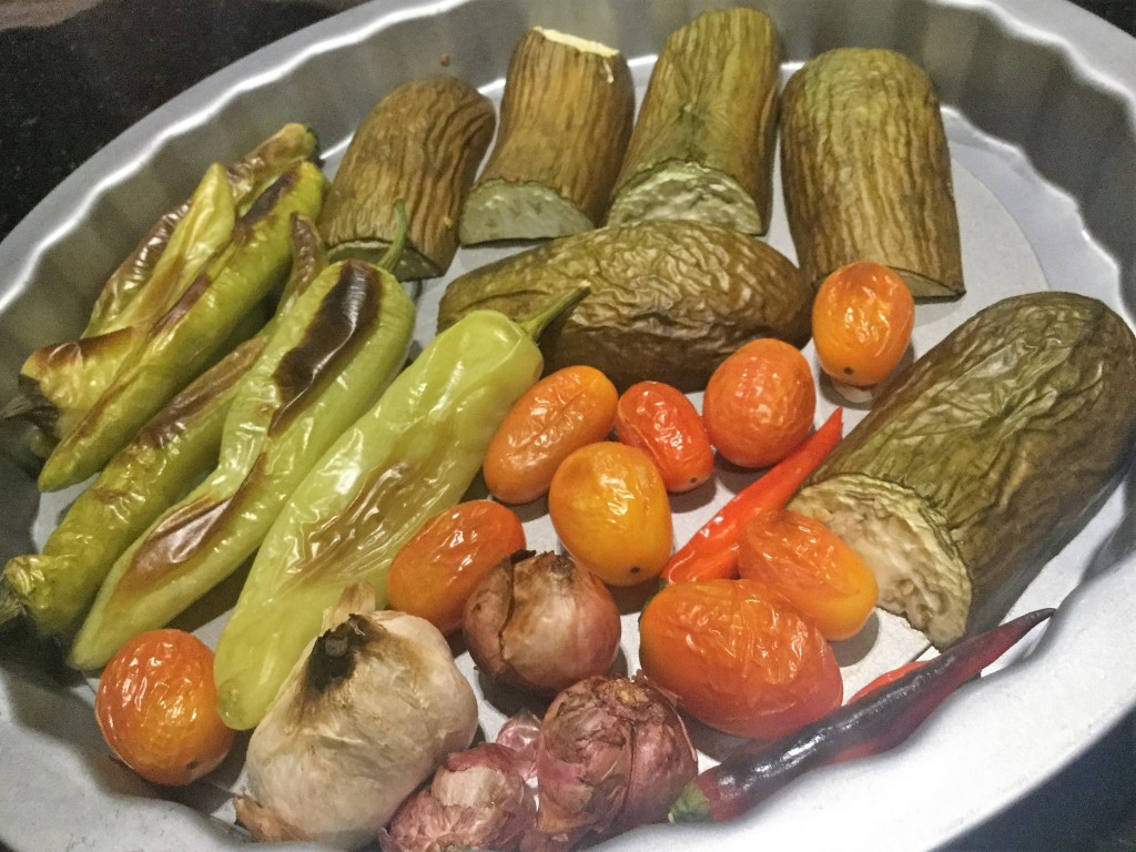 Roasting Vegetables for vegan dip